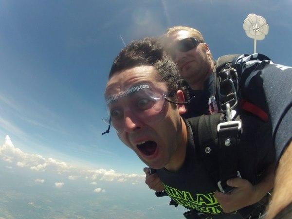 прыжок с парашютом с тренером