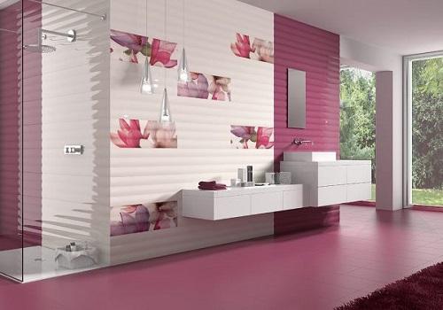 розовая плитка фото