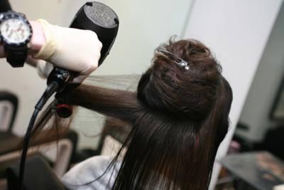 делим волосы на зоны