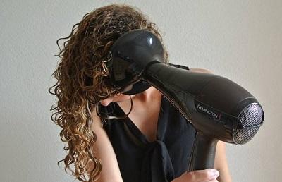 сушка кудрявых волос